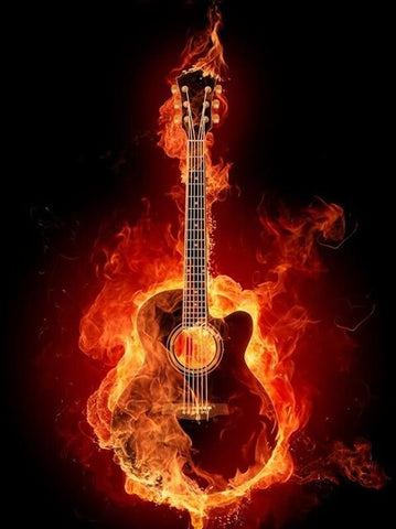 Fire Guitar - OLOEE