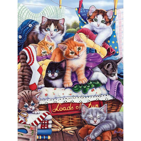 Diamond Painting Cats And Kittens - OLOEE