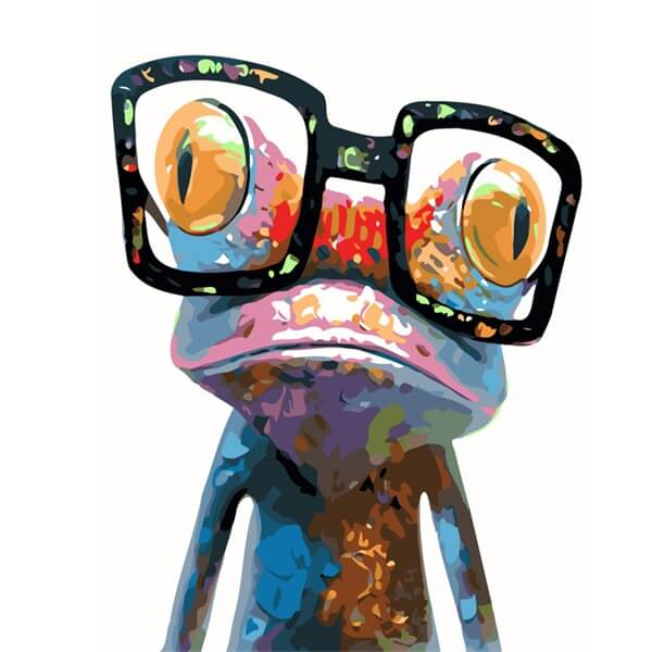 Diamond Painting Glasses Frog - OLOEE