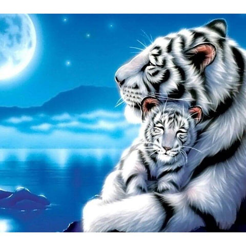 Diamond Painting Night Tiger Love - OLOEE