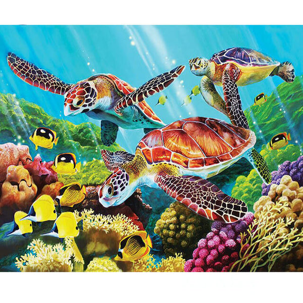 Diamond Painting Three Turtles - OLOEE