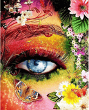 Diamond Painting Floral Eye - OLOEE