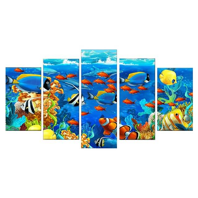Tropical Fish 5d Diamond Painting Kits Oloee