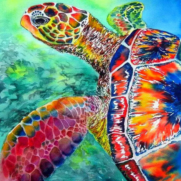 Diamond Painting Colorful Sea Turtle - OLOEE