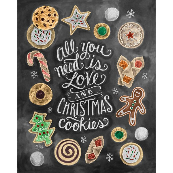 Diamond Painting Christmas Cookie and Love - OLOEE