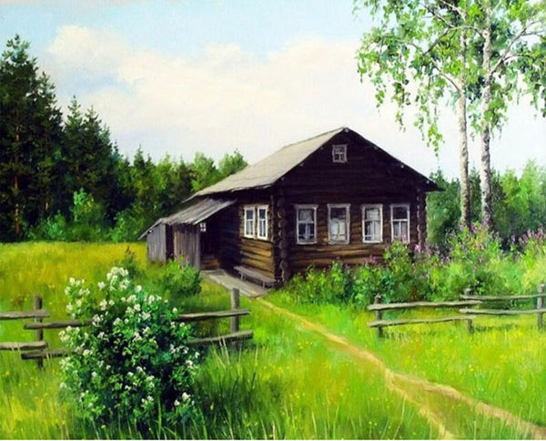 Diamond Painting Garden and Old Cottage - OLOEE