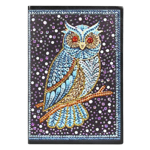 Crystal Owl Diamond Painting Notebook