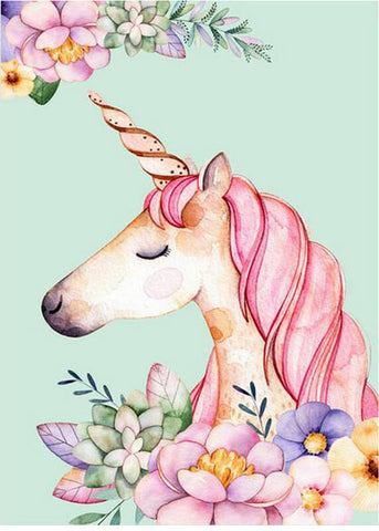 Floral Unicorn - OLOEE