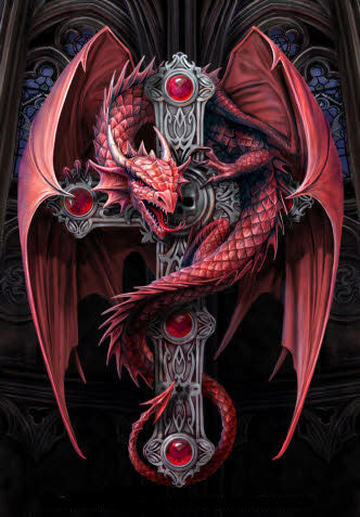 Diamond Painting Fly Dragon Cross - OLOEE