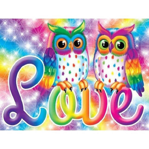 Diamond Painting Cartoon Owl Love - OLOEE