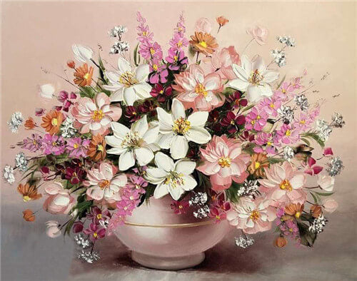 Diamond Painting Flowers Vase - OLOEE