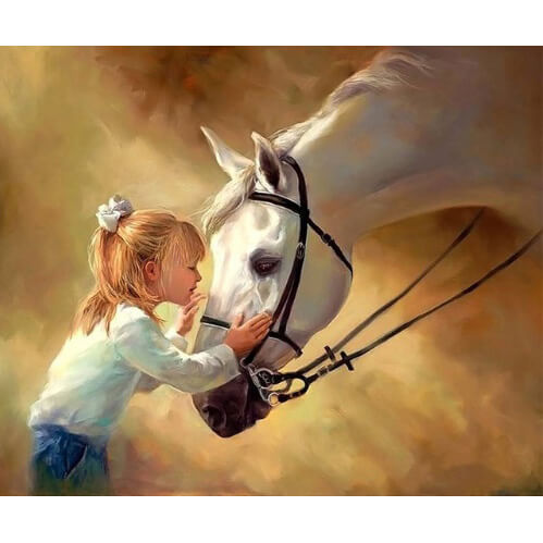 Diamond Painting Kissing the Horsey - OLOEE