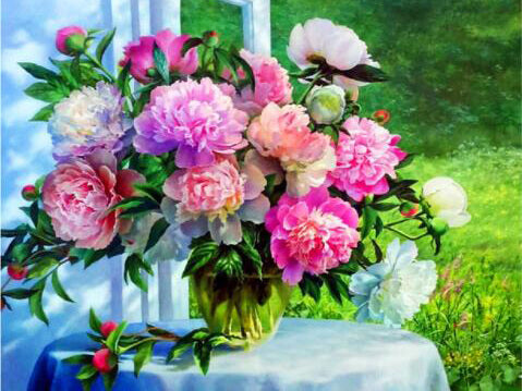 Diamond Painting Beautiful Flowers - OLOEE
