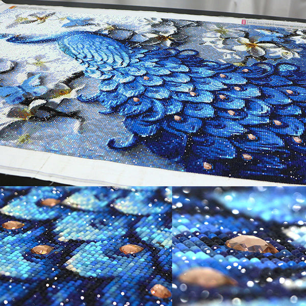 Diamond Painting Large Blue Peacock - OLOEE