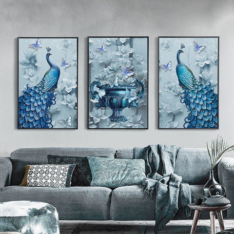 Diamond Painting 3PCS Butterfly & Peacock - OLOEE