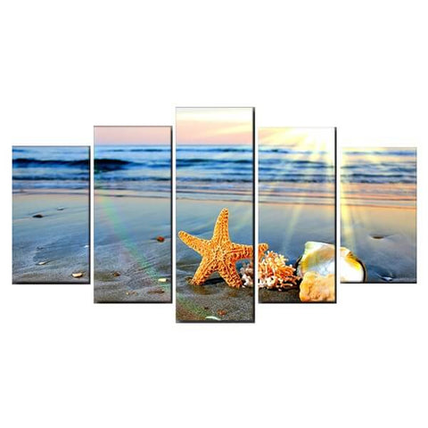 Diamond Painting Beach Rainbow Landscape - OLOEE