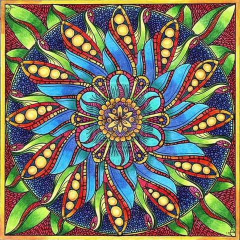 Diamond Painting Mandala Flower - OLOEE