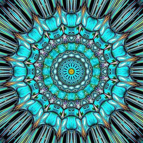 Diamond Painting Blue Mandala Art - OLOEE