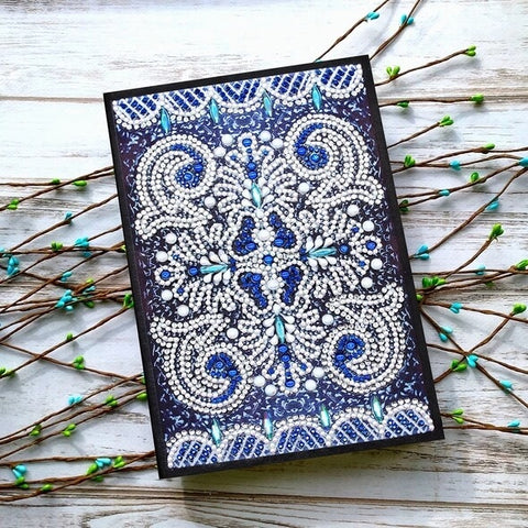 Diamond Painting Shades Of Blue Diamond Painting Notebook - OLOEE