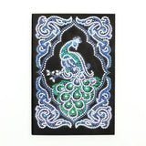 Diamond Painting Emerald Peacock Diamond Painting Notebook - OLOEE