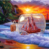 Diamond Painting Drifting Sailboat Bottle - OLOEE