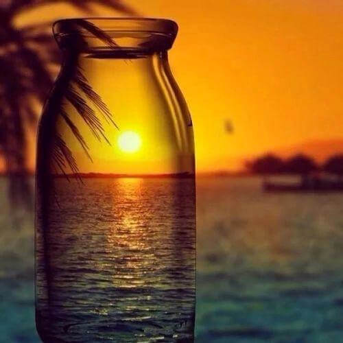 Diamond Painting Sunset Sea Bottle - OLOEE