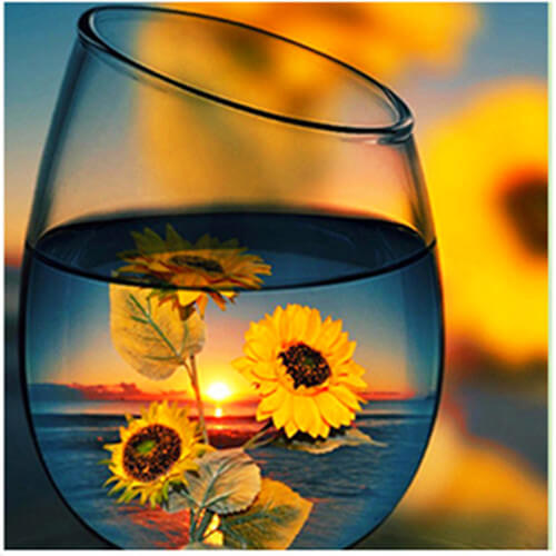 Diamond Painting Sunflower Glass - OLOEE