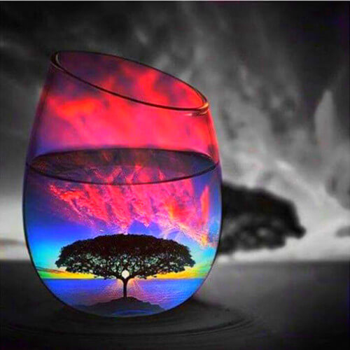 Diamond Painting Nature Colors Glass - OLOEE