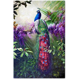 Diamond Painting Blue Peacock On Branch - OLOEE