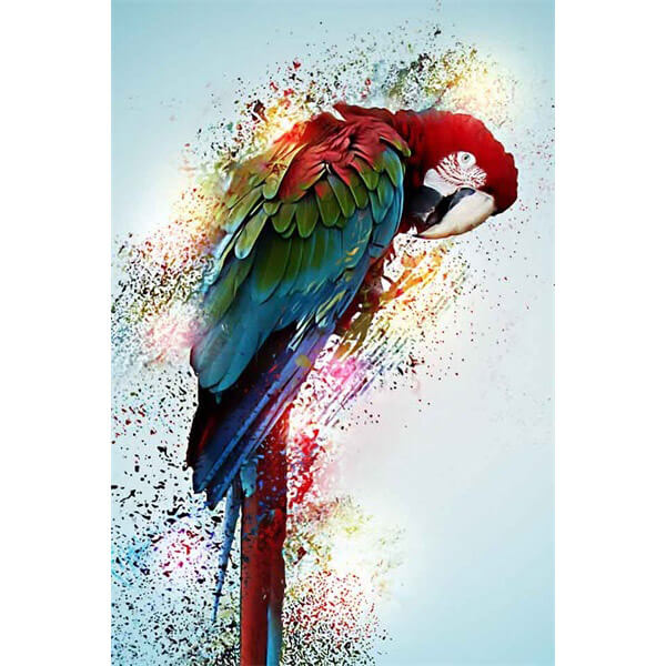Diamond Painting Red Parrot Painting - OLOEE
