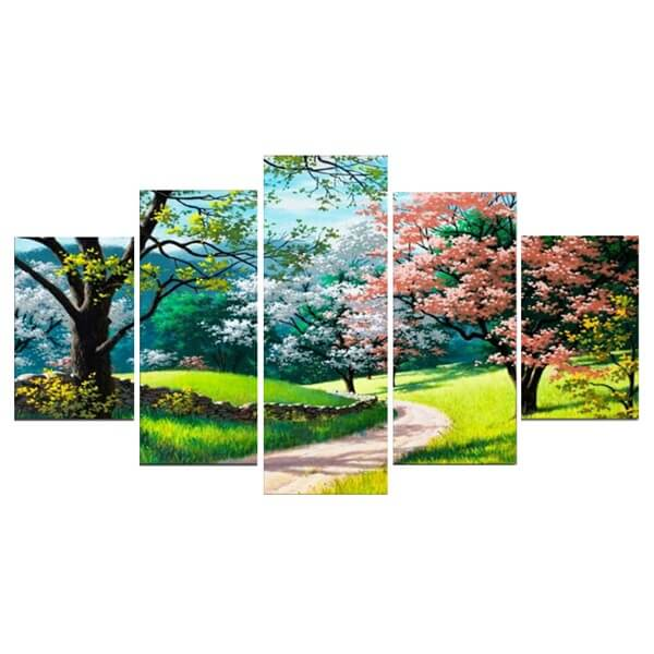 Diamond Painting Spring Trees Landscape - OLOEE