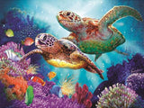 Diamond Painting Two Sea Turtles - OLOEE