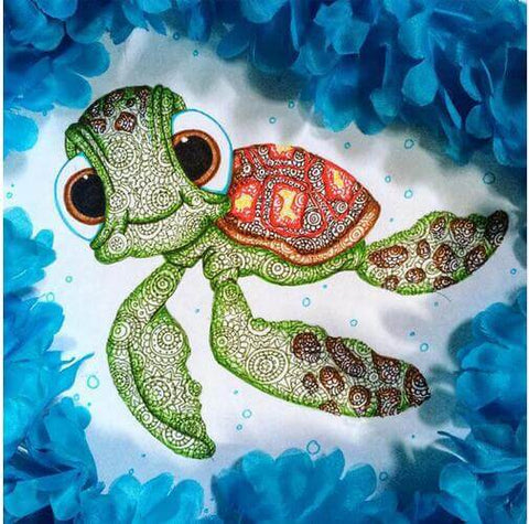 Diamond Painting Cartoon Turtle - OLOEE
