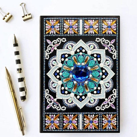 Diamond Painting Blue Mandala Diamond Painting Notebook - OLOEE