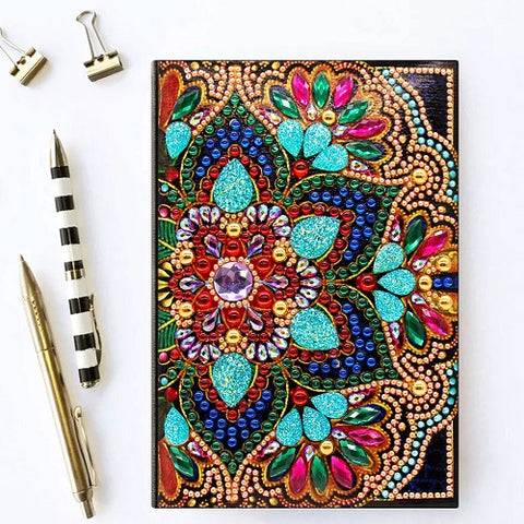 Flourish Flower Diamond Painting Notebook