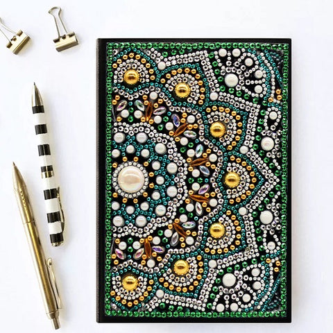 Diamond Painting Green Mandala Diamond Painting Notebook - OLOEE