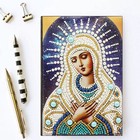 Diamond Painting Blessed Virgin Mary Diamond Painting Notebook - OLOEE