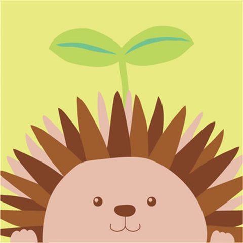 Diamond Painting Cartoon Leaf Hedgehog - OLOEE
