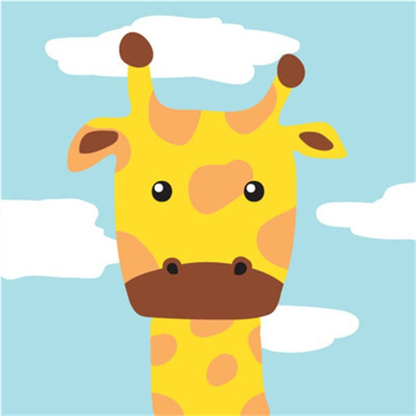 Diamond Painting Cartoon Sky Giraffe - OLOEE