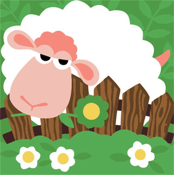 Diamond Painting Cartoon Flower Sheep - OLOEE