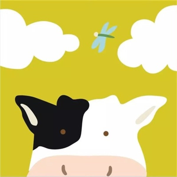 Diamond Painting Cartoon Cloud Cow - OLOEE