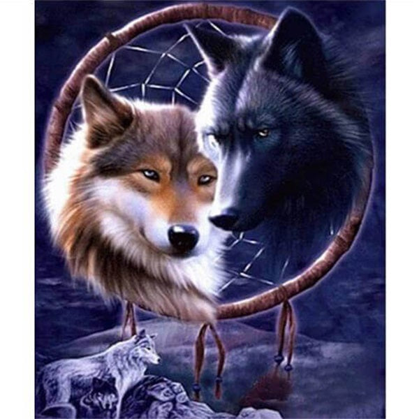 Diamond Painting Winter Wolves - OLOEE