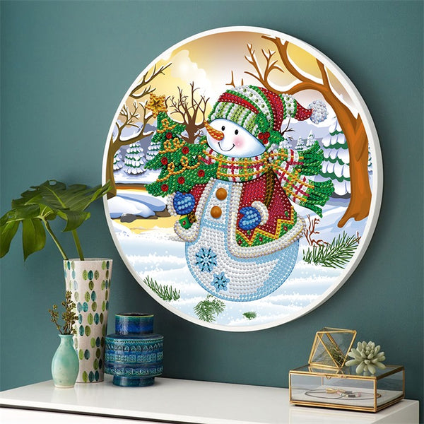 Hanging Snowman With Frame