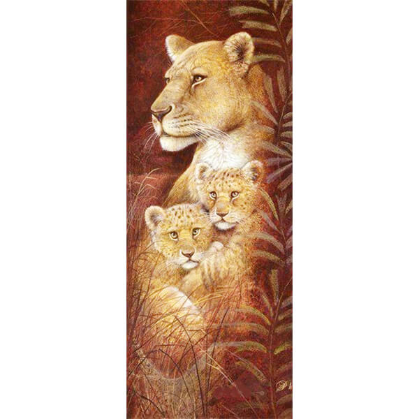 Diamond Painting Maternal Lions Mom And Baby - OLOEE