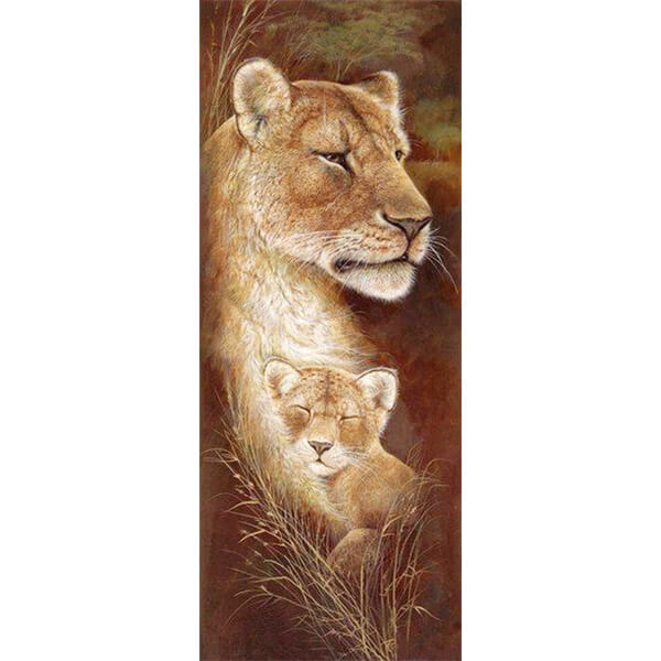 Diamond Painting Lion Maternal Love - OLOEE
