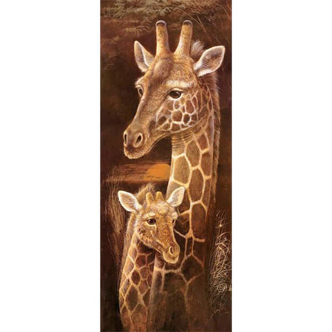 Diamond Painting Giraffe Maternal Love - OLOEE