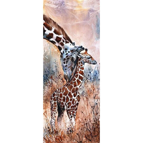 Diamond Painting Two Lonely Giraffe - OLOEE