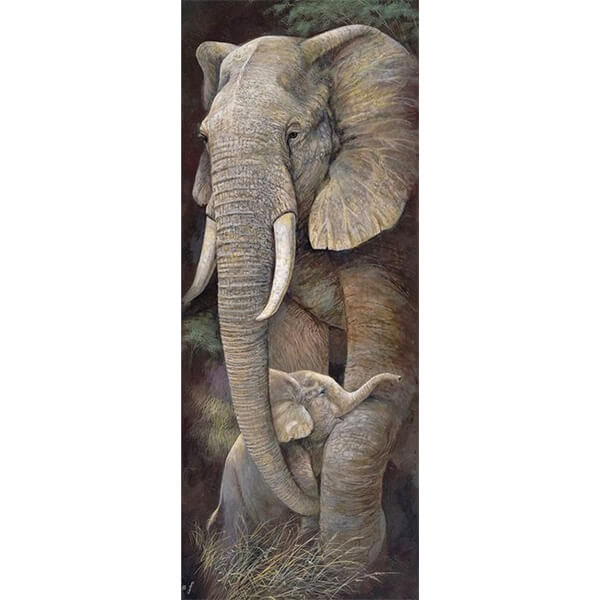 Diamond Oloee Elephant Maternal Love - OLOEE