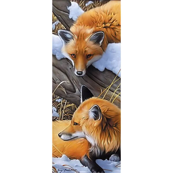Diamond Painting Two Foxes - OLOEE
