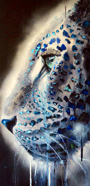 Diamond Painting Blue Nose Fearless Tiger - OLOEE